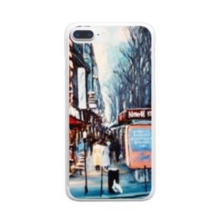 パリの街角 Clear smartphone cases