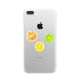 シトラスフルーツ! Clear smartphone cases