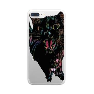 おねだり黒猫。 Clear smartphone cases