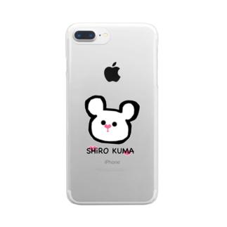 SHiRO KUMA Clear smartphone cases