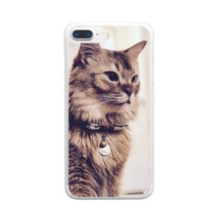 きりっとしょうぶ Clear smartphone cases