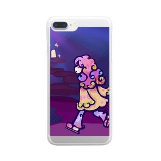 くるくるちゃんシリーズ Clear smartphone cases