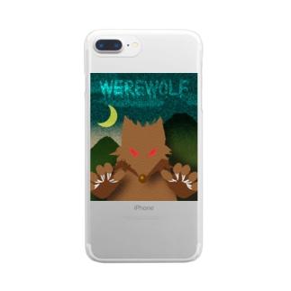 人狼(ホラーテイスト) Clear smartphone cases