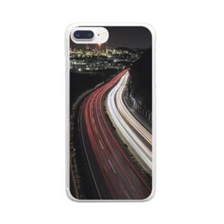 夜景のスマホケース Clear smartphone cases