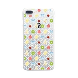 佐山周市のしろくまパーラー Clear smartphone cases