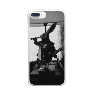 喫茶店の置物 Clear smartphone cases