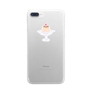 かためのプリン Clear smartphone cases