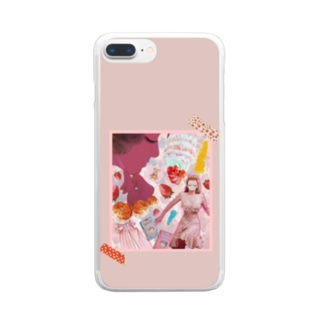potetoaiのpink sweet Clear smartphone cases