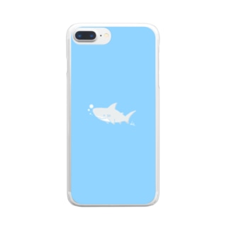 サメくん🦈 Clear smartphone cases