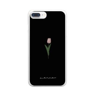 rilybiiのチューリップ*black Clear smartphone cases
