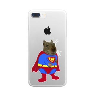 チョビーマン Clear smartphone cases
