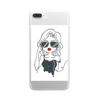sexy girl(クール) Clear smartphone cases