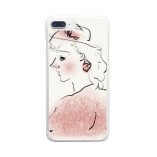 桃色少女 Clear smartphone cases