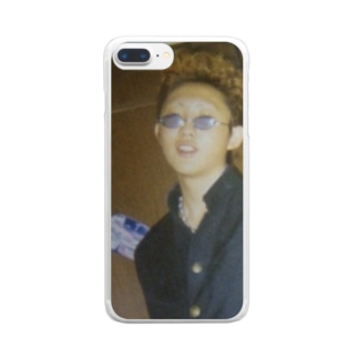 地肌に学ランの向こう側 Clear smartphone cases