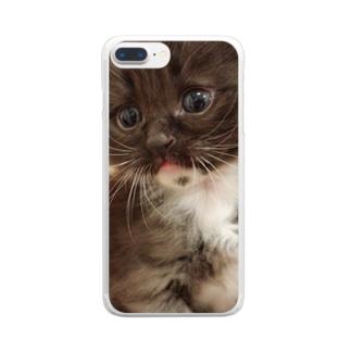 ゴマくん Clear smartphone cases