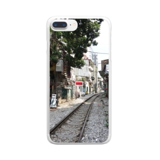 horikosanのline in life Clear smartphone cases