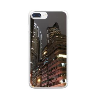 香港の摩天楼 Clear smartphone cases