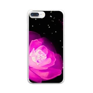 薔薇ライト Clear smartphone cases