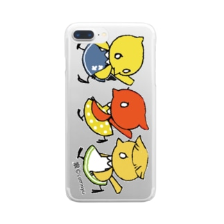 『仲良しカナリア』 Clear smartphone cases