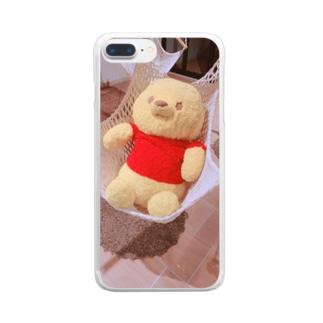 nana05のプーさん Clear smartphone cases
