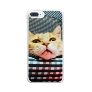 のほほんぷちょちゃんは猫。 Clear smartphone cases
