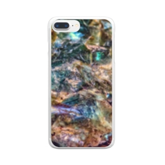 孔雀 Clear smartphone cases