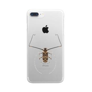 テナガカミキリ Clear smartphone cases