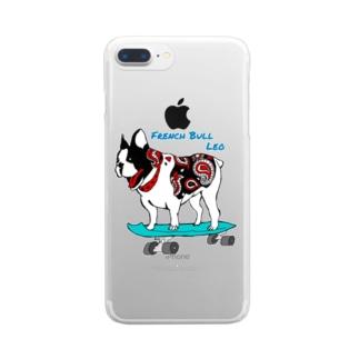 フレンチブルドッグのレオくん Clear smartphone cases