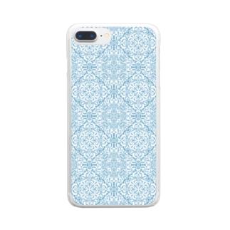 模様 Clear smartphone cases