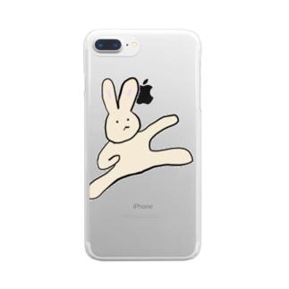 闘うさぎ Clear smartphone cases