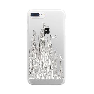 白い城 Clear smartphone cases