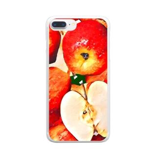 りんごの軍隊 Clear smartphone cases