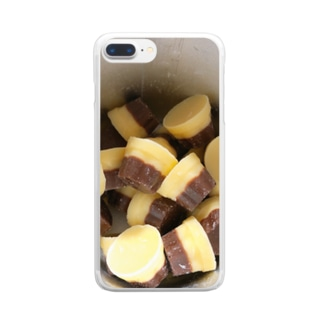 プリンが好きな人のアイテム Clear smartphone cases