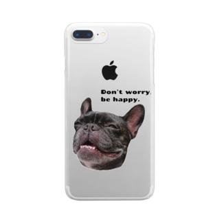 根拠なくポジティブな犬 Clear Smartphone Case