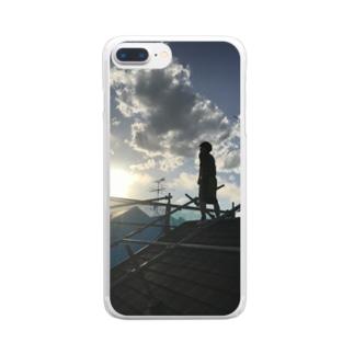 屋根男 Clear smartphone cases