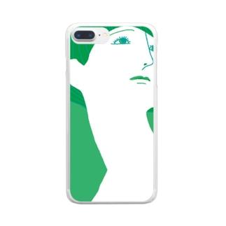 mya-mya=MIYA JUNKO's shop 02のBeautiful neck Clear Smartphone Case