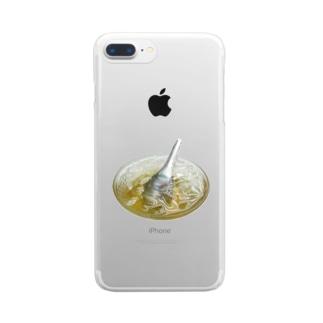 愛玉子(オーギョーチー) Clear smartphone cases