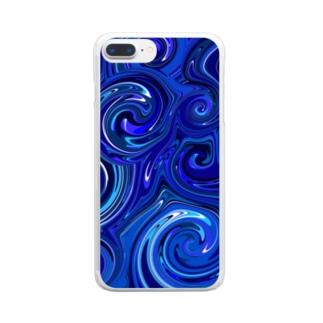 ウェ-ブ Clear smartphone cases
