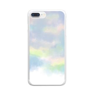 水彩スマホケース Clear smartphone cases