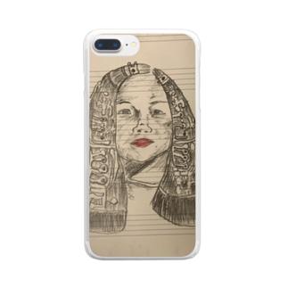 クラリネットのビーナス Clear smartphone cases