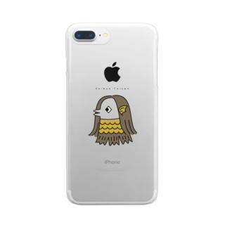 アマビエ・イエロー Clear smartphone cases