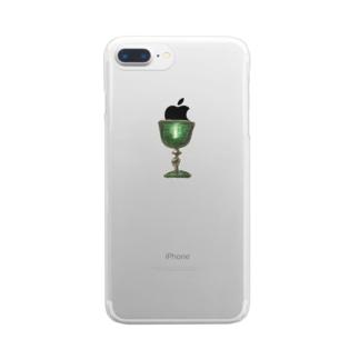緑の聖杯 Clear smartphone cases