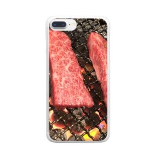 にく Clear smartphone cases