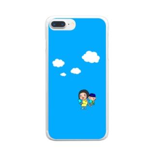 青い空! Clear smartphone cases