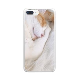 ぐっすりしゃもじ。 Clear smartphone cases