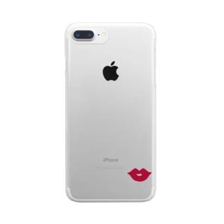 くちびるマーク Clear smartphone cases