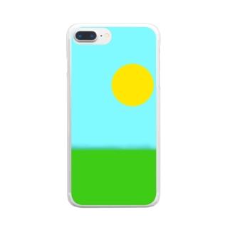 天気が良すぎる空 Clear smartphone cases
