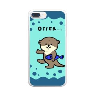 かわうそくん Clear smartphone cases