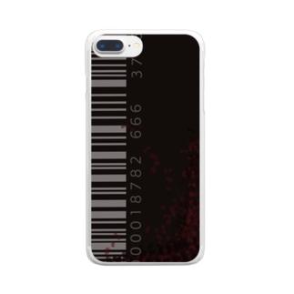 「シンプルにバーコードデザイン Clear smartphone cases