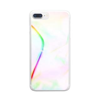 オーロラミルキーウェイ Clear smartphone cases